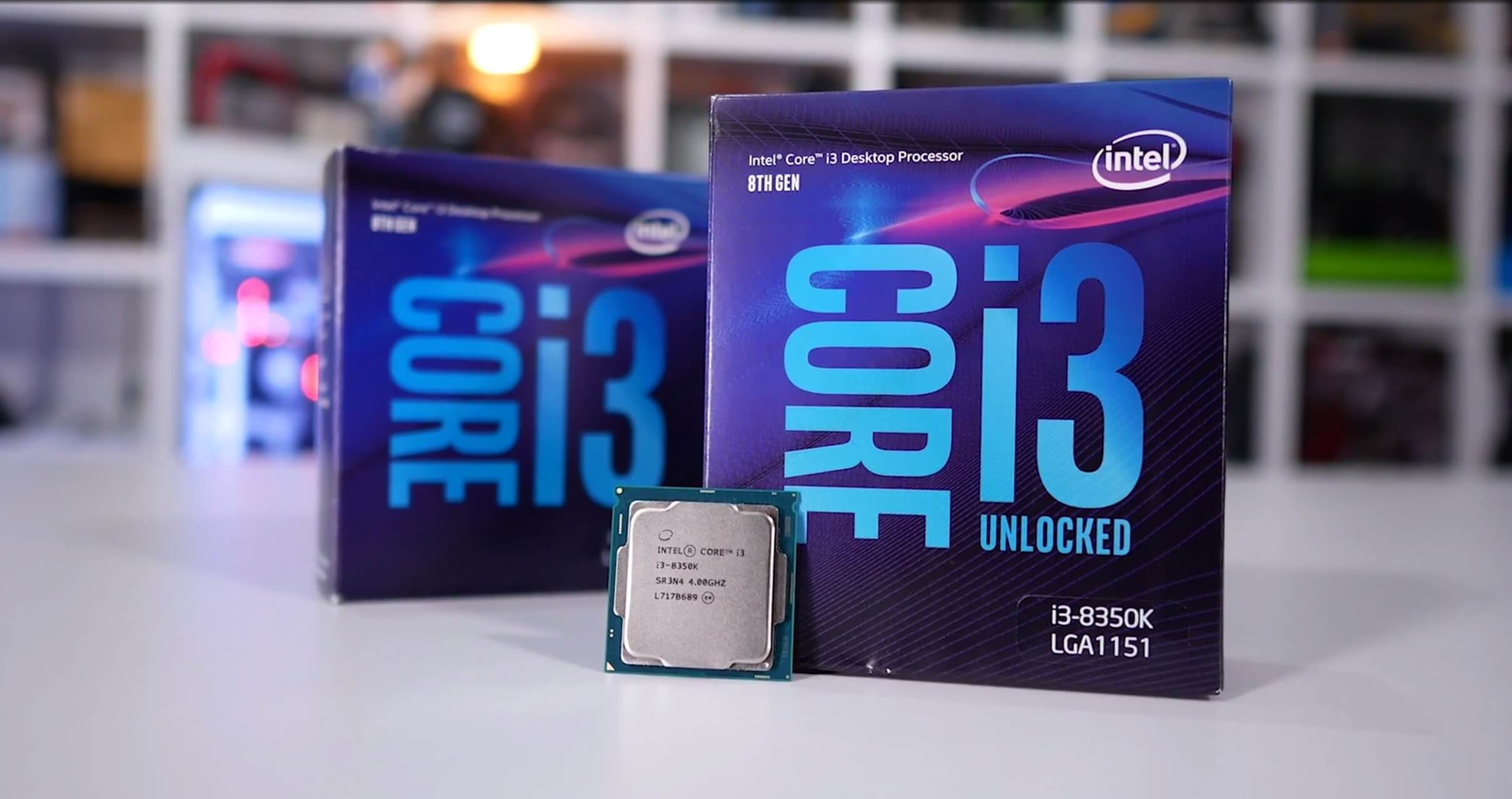 Intel Core i3-8100 and Core i3-8350K