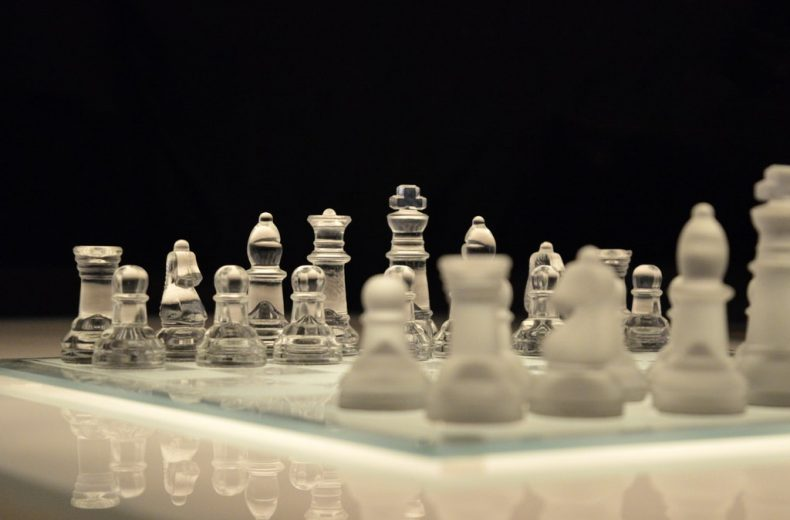 Glass Chess Board