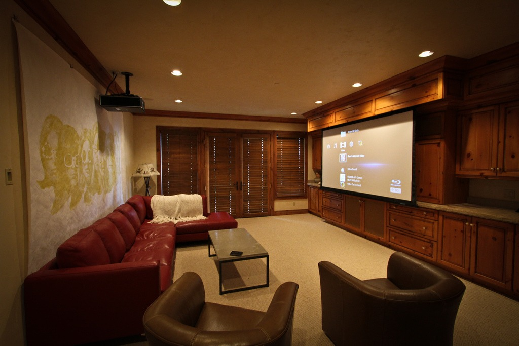 Home Projector in Living Room