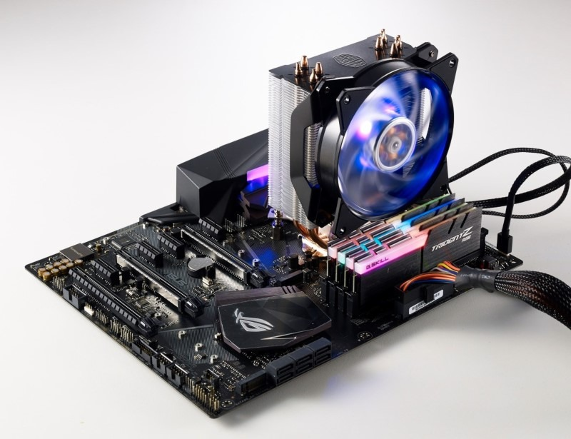 MasterAir MA410P Air CPU Fan on Gaming Motherboard