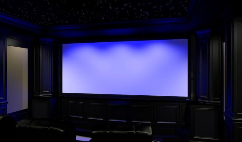 Projector in Dark Room with Star Projector