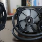 be quiet! CPU air fan and Corsair Liquid CPU fan