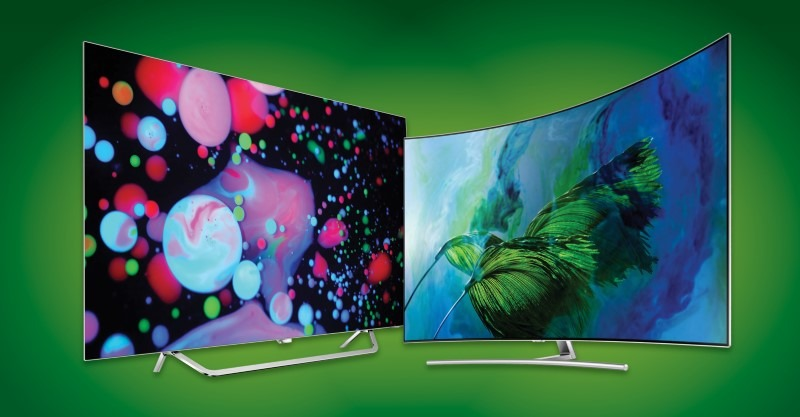 Dual TV Green Background