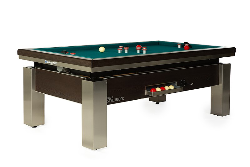 Golfbiljart Bumper Pool Table Steelblock