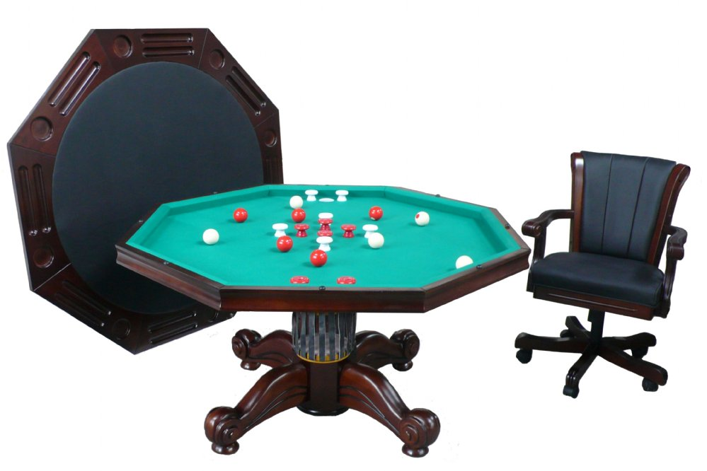Octagon Bumper Pool 3 in 1 Combination Table