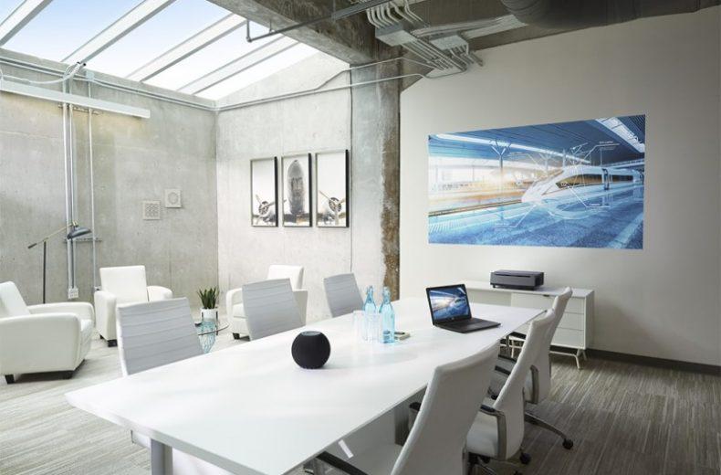 Dell S718QL 4K Laser Projector in Living Room