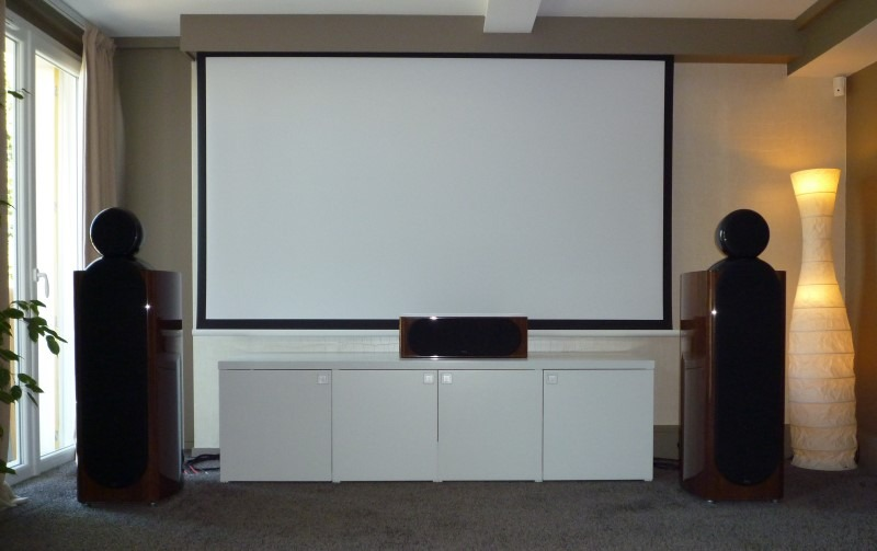 Projector Screen Behind Pelmet Rolled Out