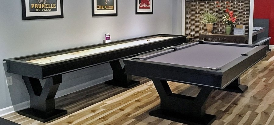 Shuffleboard Table and Pool Table