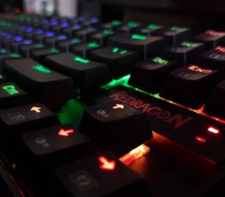 Redragon RGB Backlit Gaming Keyboard Close Up