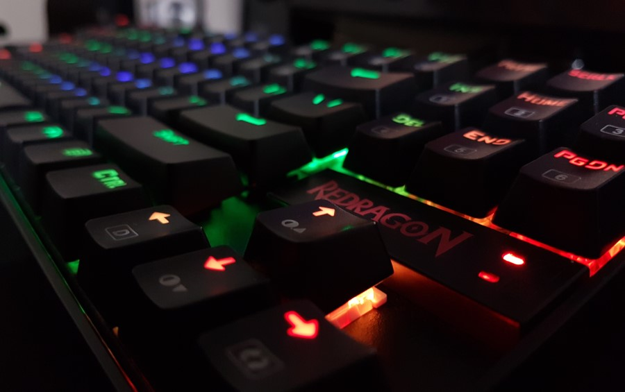 Redragon RGB Backlit Gaming Keyboard Close Up