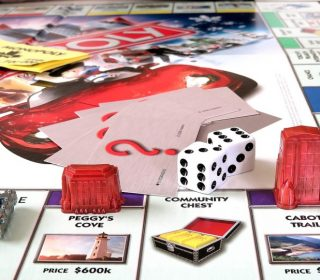 Close Up Monopoly Board Game