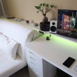 White Gaming Desk Bed