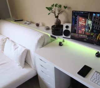 White Gaming Desk Bed