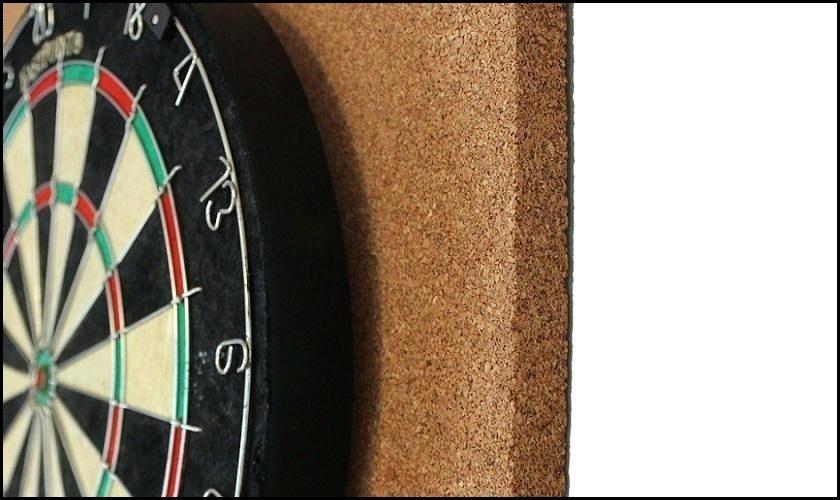 Cork Board Darts Close Up