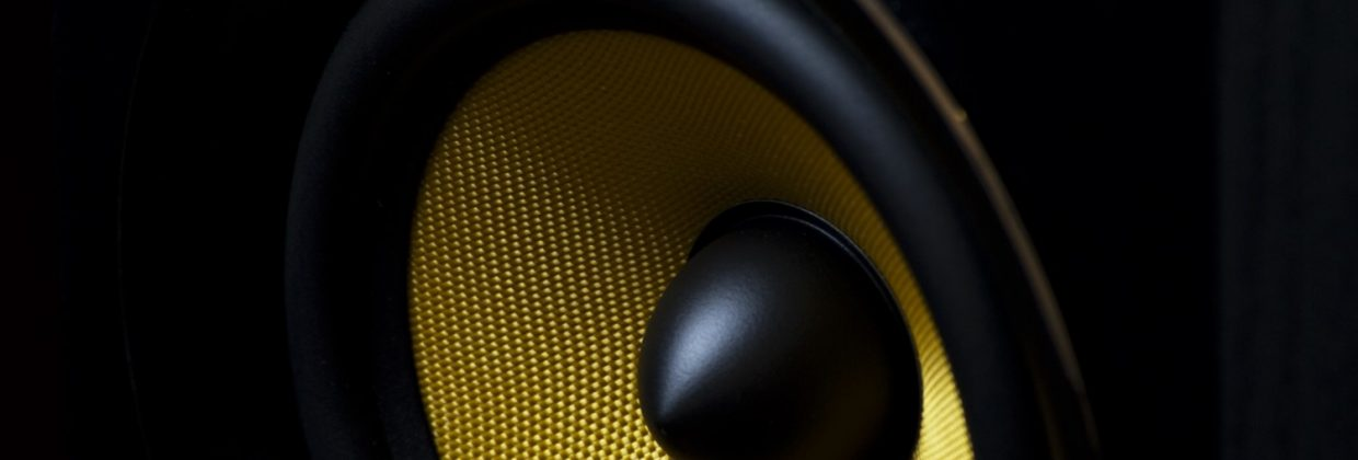 Yellow Subwoofer Close Up