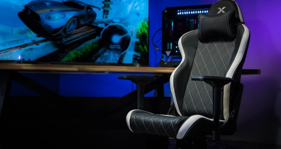 RapidX Ferrino Line White Gaming Chair