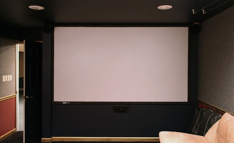 White Projector Screen Home