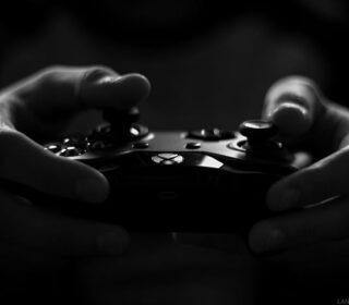 art-black-and-white-controller-dark